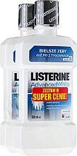 Парфюми, Парфюмерия, козметика Комплект - Listerine Advanced White (rinser/2x500ml)