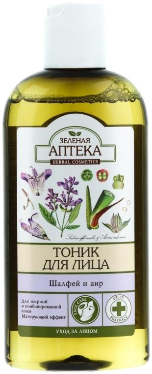 "Тоник за лице ""Градински чай и Аир"" - Green Pharmacy"