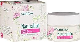 Парфюми, Парфюмерия, козметика Успокояващ нощен крем за лице - Soraya Naturalnie Night Cream