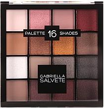 Парфюмерия и Козметика Палитра сенки за очи - Gabriella Salvete Palette 16 Shades II
