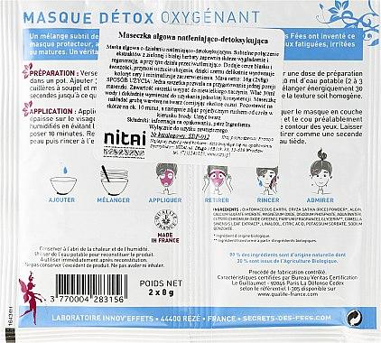 """Освежаваща маска за лице """"Детокс"""" - Secrets des Fees Mask — снимка N2"""