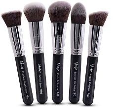 Парфюми, Парфюмерия, козметика Комплект четки - Nanshy Face Brush Set Black