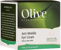 Парфюми, Парфюмерия, козметика Околоочен крем против бръчки - Frulatte Olive Anti-Wrinkle Eye Cream