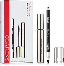 Парфюми, Парфюмерия, козметика Комплект за очи - Clarins Smokey Eyes (спирала/8ml+молив/1,2g)