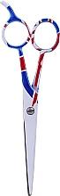 Парфюмерия и Козметика Фризьорска ножица, 5.5см - Ronney Professional White Flag London