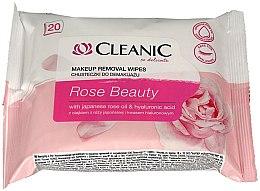 Парфюми, Парфюмерия, козметика Мокри кърпички за премахване на грим, 20 бр. - Cleanic Rose Beauty