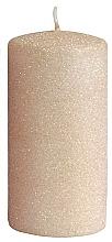 Парфюмерия и Козметика Декоративна свещ, розово-златиста, 7x10 см - Artman Glamour