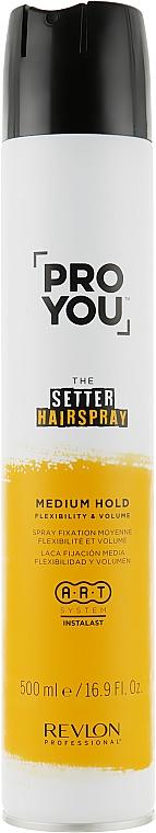 Лак за коса със средна фикасация - Revlon Professional Pro You The Setter Hairspray Medium