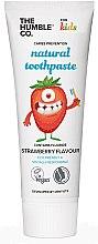 Парфюмерия и Козметика Натурална детска паста за зъби с вкус на ягода - The Humble Co. Natural Toothpaste Kids Strawberry Flavor