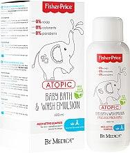Парфюми, Парфюмерия, козметика Детска почистваща емулсия за тяло и коса - Fisher Price Atopic Body Emulsion