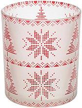 Парфюмерия и Козметика Чаша за свещ, бяло-червена - Yankee Candle Red Nordic Frosted