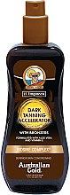 Парфюмерия и Козметика Спрей-гел активатор за тен с бронзант - Australian Gold Dark Tanning Accelerator Spray Gel With Bronzers