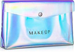 """Парфюми, Парфюмерия, козметика Прозрачен козметичен несесер """"Holographic"""", 23x13x3см - MakeUp"""