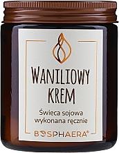 "Парфюмерия и Козметика Ароматна сова свещ ""Ванилов крем"" - Bosphaera Vanilla Cream Candle"