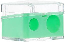 Парфюмерия и Козметика Двойна острилка за моливи, светло зелена - Top Choice