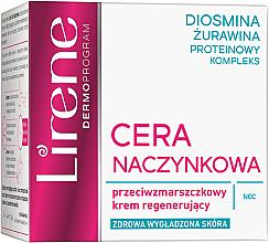Парфюми, Парфюмерия, козметика Нощен регенериращ крем за лице - Lirene Redness Regenerating Night Cream Anti Wrinkle