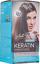 Парфюмерия и Козметика Комплект за коса - Kativa Anti-Frizz Straightening Without Iron Xpert Repair (h/mask/150ml + shmp/30ml + h/cond/30ml)
