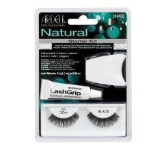 Парфюми, Парфюмерия, козметика Комплект изкуствени мигли и лепило - Ardell Natural Starter Kit Demi Black 101