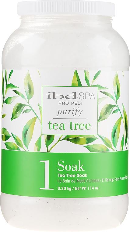 Почистваща сол за вана за ръце и крака с екстракт от чаено дърво - IBD Tea Tree Purify Pedi Spa Soak — снимка N3