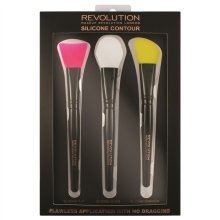 Парфюмерия и Козметика Комплект силиконови четки за контуриране - Makeup Revolution Silicone Contour Brush Set