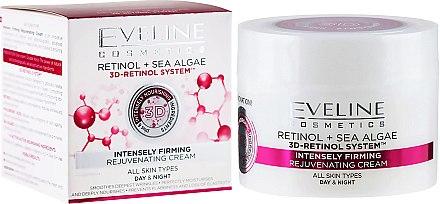 "Крем против стареене ""Интензивен лифтинг"" за всеки тип кожа - Eveline Cosmetics Retinol+Sea Algae Intensely Firming Rejuvenating Cream — снимка N1"