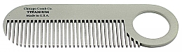"""Парфюмерия и Козметика Гребен за коса """"Модел №2 Титан"""" - Chicago Comb Co Model No.2 Titanium"""