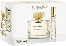 Парфюмерия и Козметика M. Micallef Pure Extreme With Love - Комплект парфюмна вода (edp/100 ml + edp/10 ml)