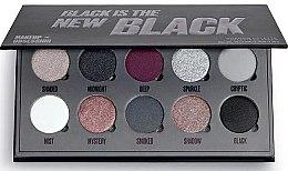 Парфюмерия и Козметика Палитра сенки за очи, 10 цвята - Makeup Obsession Black Is The New Black