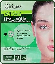 Парфюмерия и Козметика Хиалуронова хидратираща и подмладяваща памучна маска за лице - Qiriness Wrap Hyal-Aqua Hyaluronic Moisture Mask