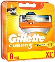 Парфюмерия и Козметика Сменяеми ножчета за бръснене, 8 бр. - Gillette Fusion Power