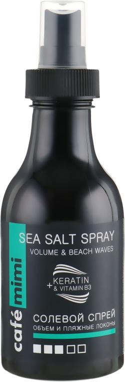 Солен спрей за коса с плажен ефект на мокри къдрици - Cafe Mimi Sea Salt Spray Volume & Beach Waves