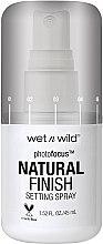 Парфюмерия и Козметика Фиксиращ спрей за грим - Wet N Wild Photofocus Natural Finish Setting Spray