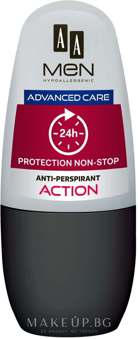 Рол-он дезодорант - AA Men Protection Advance Care Non-Stop 24h Anti-Perspirant Action — снимка 50 ml