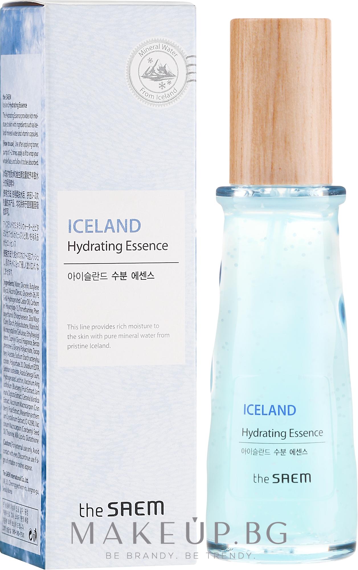 Минерална хидратираща есенция за лице - The Saem Iceland Hydrating Essence — снимка 60 ml