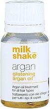 Парфюмерия и Козметика Арганово масло за дълбоко възстновяване и блясък на косата - Milk_Shake Argan Glistening Argan Oil