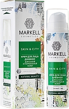 """Парфюмерия и Козметика Дневен крем за лице """"Сребърни ушички"""" за суха и нормална кожа - Markell Cosmetics Skin&City Face Cream"""