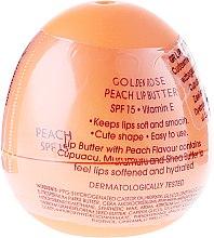 Парфюми, Парфюмерия, козметика Балсам-масло за устни, праскова - Golden Rose Lip Butter SPF15 Peach