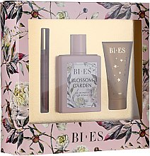Парфюмерия и Козметика Bi-es Blossom Garden - Комплект (парф. вода/100ml + душ гел/50 ml + парфюм/12ml)