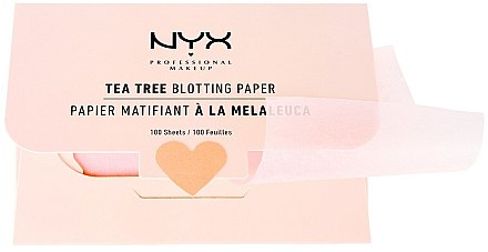 "Матиращи листчета за лице ""Tea Tree"" - NYX Professional Makeup Blotting Paper"