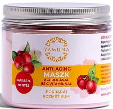 Парфюмерия и Козметика Маска за лице против стареене с ацерола и витамин C - Yamuna Anti-aging Mask With Acerola And C-vitamin