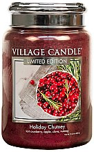 Парфюми, Парфюмерия, козметика Ароматна свещ в бурканче - Village Candle Holiday Chutney Glass Jar