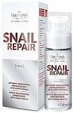 Парфюмерия и Козметика Активен подмладяващ концентрат за лице със секрет от охлюв - Farmona Professional Snail Repair Active Rejuvenating Concentrate With Snail Mucus