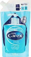 Парфюмерия и Козметика Течен антибактериален сапун - Carex Pure Blue Hand Wash (пълнител)