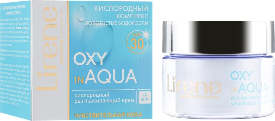 Дневен крем с кислороден комплекс за чувствителна кожа, SPF30 - Lirene Dermo Program Oxy In Aqua SPF30