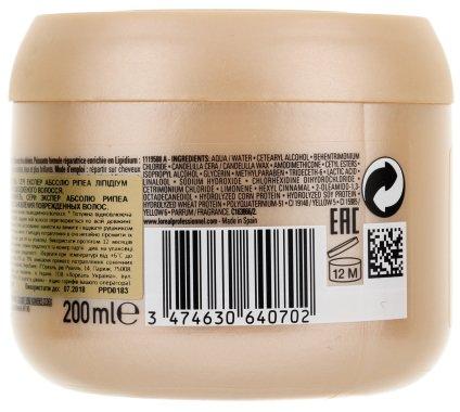 Маска за възстановяване на увредена коса - L'Oreal Professionnel Absolut Repair Lipidium Instant Reconstructing Masque — снимка N4