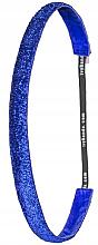 """Парфюмерия и Козметика Лента-ластик за коса """"Ocean Blue Glitt/Slim"""" - Ivybands"""