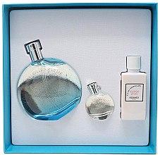 Парфюми, Парфюмерия, козметика Hermes Eau des Merveilles Bleue - Комплект (тоалетна вода/100ml + лосион за тяло/40ml + тоалетна вода/7.5ml)
