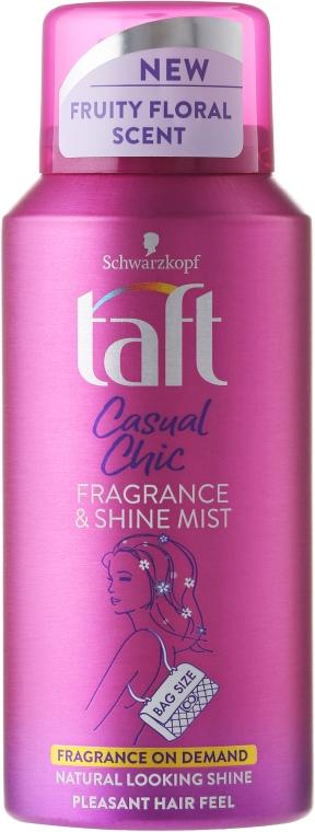 Спрей за коса с блестящи частици - Schwarzkopf Taft Casual Chic Fragrance & Shine Mist