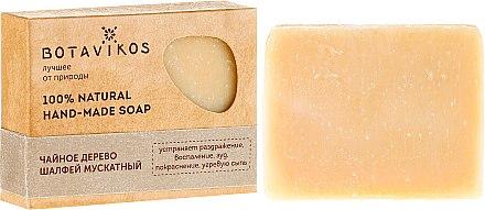 Ръчно изработен натурален сапун с чаено дърво и салвия скларея - Botavikos Hand-Made Soap — снимка N1