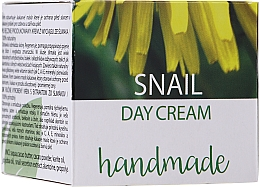 Парфюмерия и Козметика Дневен крем за лице с екстракт от охлюв - Hristina Cosmetics Handmade Snail Day Cream